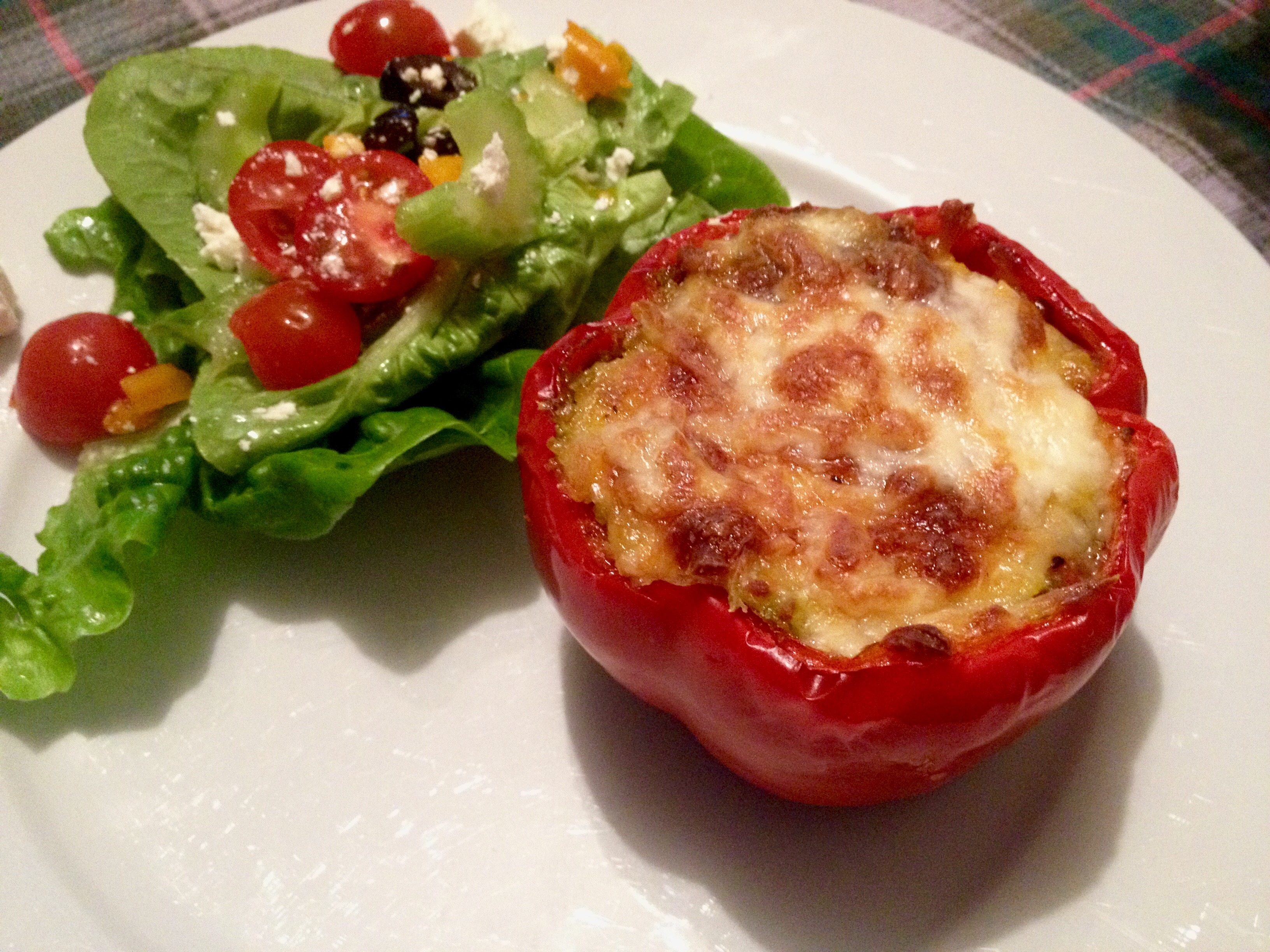 how to make stuffed peppers with mince