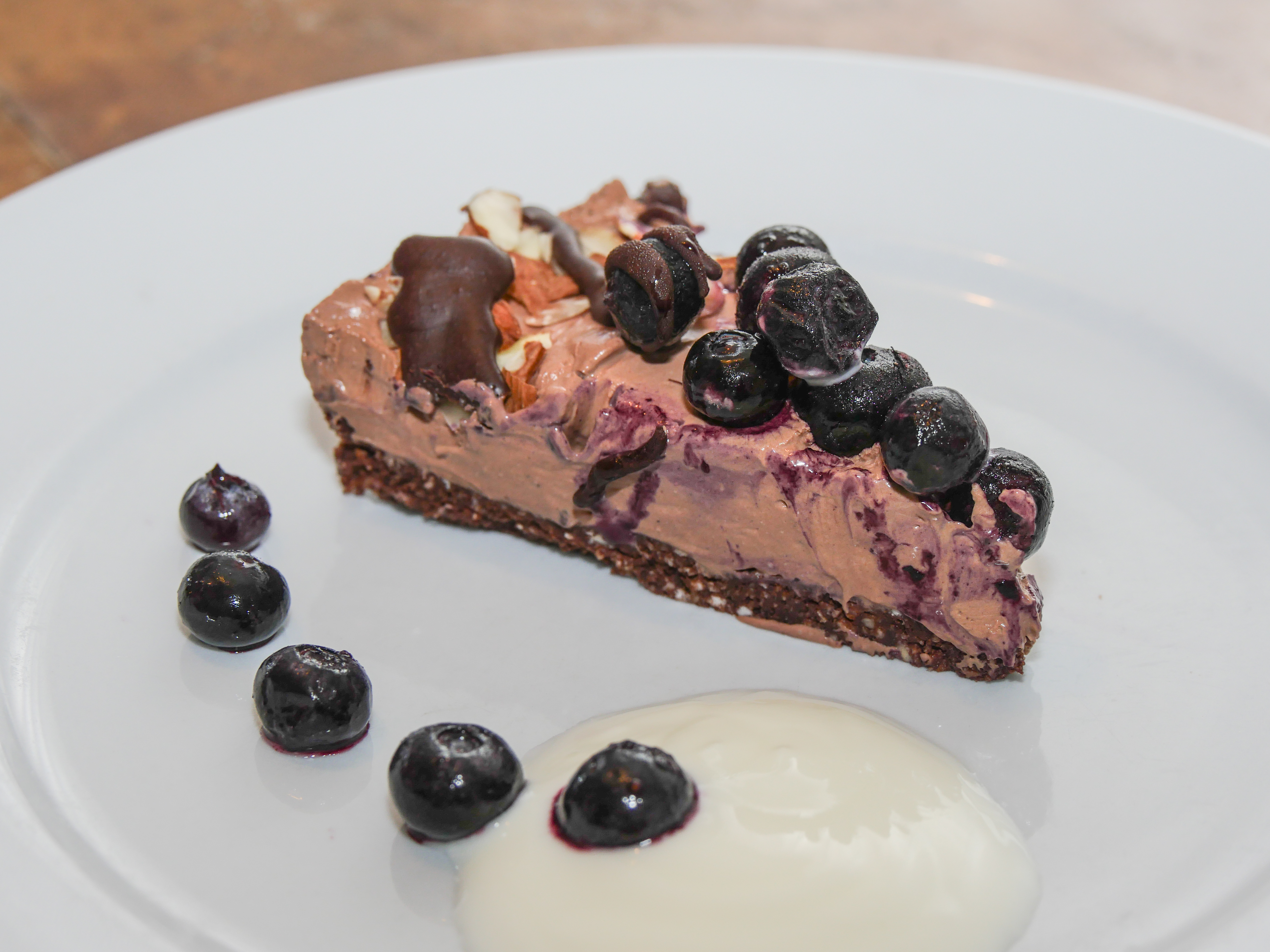 Blueberry & Chocolate Mousse Cheesecake - Fizzifood