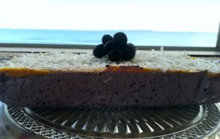 "Blueberry, Coconut & Peanut Butter ""Cheesecake"""
